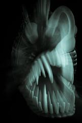 nightmare 01 jun 15 (Shaun the grime lover) Tags: sea fish monochrome dark scary darkness zoom teeth alien deep jaws terror nightmare fangs fright frightening angler splittoned zoomburst