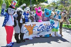 2015 Piedmont July 4th Parade! (critter superhero) Tags: coyote bear dog costume furry wolf gorilla chipmunk ape dalmatian fursuit