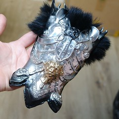 Male Armor nr 2 (Sakura-Streifchen) Tags: handmade armor selfmade handsculpted ateliercynamon amahtalacreations sweetypiecreations selfsculpted bjdarmor ringdollsize