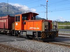 RhB Dieselshunter type Tmf 2/2  N 89. (Franky De Witte - Ferroequinologist) Tags: de eisenbahn railway estrada chemin fer spoorwegen ferrocarril ferro ferrovia
