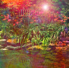 Sizzling Summer (virtually_supine) Tags: flowers reflection texture water photomanipulation creative vividcolour lilies layers digitalartwork photoshopelements9 pse9effectssimplepaintdaubssmudgestickaccentededgeslensflare kreativepeopletreatthis89 sourceimagebybrillianthues