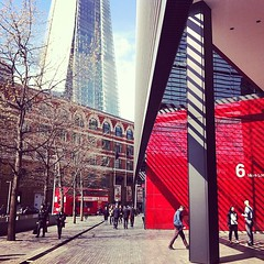 Southwark, London. (cciledupuy) Tags: street uk england urban london architecture skyscraper square squareformat shard amaro iphoneography instagramapp