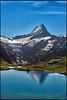 Grindelwald ,The Bachalpsee & the  Wetterhorn  .No.9094. (Izakigur) Tags: alps alpes alpen berneroberland bern berne berna kantonbern cantonofbern reflection lac bachalpsee grindelwald bf fix you coldplay trift mountain wetterhorn topf25 100faves 200faves 250faves