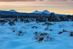 Winter Sunset on the High Desert (chasingthelight10) Tags: events photography landscapes highdesert nature forests snowscenes places oregon centraloregon tumaloreservoir mountains threesisters otherkeywords snow trees sunset winter