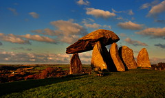 Pentre Ifan (images@twiston) Tags: pentreifan neolithicwales neolithic wales west pembrokeshire dolmen cadw 3500bc scheduledancientmonument nevern ancient standing stones capstone golden hour sunset blue sky clouds pentre ivan imagestwiston megalith prehistoric stoneage atmospheric landscape