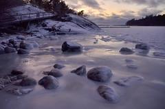 Last week we had a few days of winter (Basse911) Tags: husstranden beach strand ranta playa plage stones ice frozensea winter talvi vinter january tammikuu januari hangö hanko finland suomi nordic