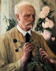 suede show (2) (canecrabe) Tags: fleur flower selfportrait autoportrait allanösterlind peintre suède suédois peinture institut hôteldemarle rose chardon bouc