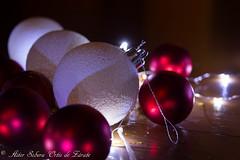 Christmas is coming (Inushin) Tags: christmas navidad diciembre balls bolas adornos rojo red blanco white luz light led nikon nikond5200 d5200