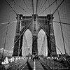 Brooklyn bridge (Alice Levasseur) Tags: brooklyn brigde new york black white noir blanc perspective