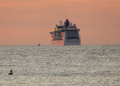 Brilliance of the Seas - Melissa Etheridge Cruise - Tampa (TropicViking) Tags: orange gulf beach sunset tampa florida fort egmont cruiseship brillianceoftheseas portoftampa halloween gulfofmexico gulfsunset fortdesotopark egmontkey etheridge melissaetheridge