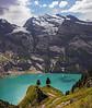 Oeschinensee (Vid Pogacnik) Tags: switzerland oeschsinensee bernalps lake hiking outdoor landscape mountain glacier kandersteg