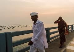 Happy Republic day | Pamban,Rameswaram. (vjisin) Tags: rameswaram pamban bridge indianstreetphotography streetphotography india asia tamilnadu incredibleindia outdoor sea indianocean boats sunset indianwoman indianman man woman sun orange blue