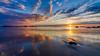 Egunsentia._3. (Iurgi.) Tags: amanecer sunset seascape playa reflection reflejo nubes clouds colores cantabria noja trengandin sun sea sky inda iurgi