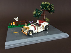 1930s British convertible (-Wat-) Tags: lego car wheel motor automobile race racer british chrome gold