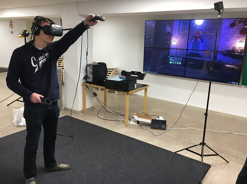 HTC Vive demo session at Harald Herlin Learning Centre