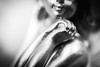 Bronze Girl (davidliebst) Tags: macro closeup blackandwhite beautiful beauty photoart perspective illusion canon5d statue photography flashphotography studio