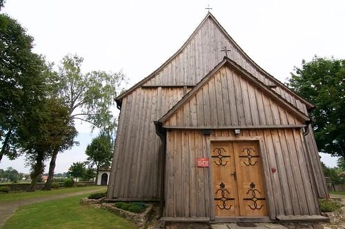 Kościół w Boguszycach od zachodu