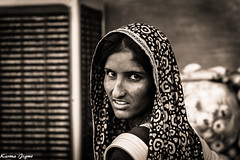 Pride II (karmajigme) Tags: woman girl human portrait rajasthan india noiretblanc monochrome blackandwhite travel nikon