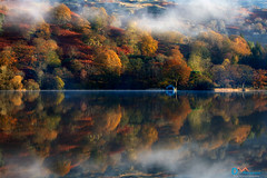 Rydal Water Autumn Mists (Dave Massey Photography) Tags: autumn calm cloud cumbria dawn fall fog lakedistrict light mist reflection rydalwater serene tranquil trees
