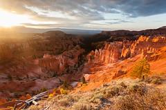White Rim Sunrise - Bryce Canyon National Park (Gary Breashears) Tags: park sunset sun mountain sunrise canon landscape utah nationalpark twilight dusk hoodoo slickrock whiterim hoodoos sunsetpoint brycecanyonnationalpark canon5dmarkii