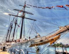 Juan Sebastian De Élcano, Spanish Tall Ship (mahler9) Tags: jaym june 2015 boston charlestown navyyard shipyard ship tallship juansebastiandeélcano hdr port