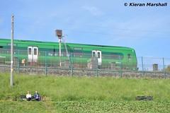 29027 arrives at Balbriggan, 18/6/15 (hurricanemk1c) Tags: irish train rail railway trains commuter railways caf irishrail 2015 balbriggan iarnród 29027 éireann iarnródéireann class29000 0935droghedapearse