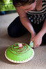 Day One Hundred and Nineteen / Year Four. (evilibby) Tags: green cake caroline carolines princesscake prinsesstårta project365 greencake omnom