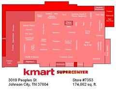 Johnson City, TN Kmart Map (Random Retail) Tags: retail store tn map supermarket former kmart johnsoncity 2015 superk superkmart storelayout