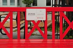 Sit down and talk, by Red Cross (GeirB,) Tags: park red norway bench geotagged norge nikon july norwegen noruega gps nikkor d3 nordnorge redcross finnmark vadsø benk rødekors northnorway gp1 varanger northernnorway vadsoe vadso barentsregionen