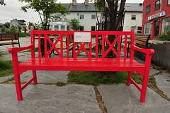 Red Cross bench (GeirB,) Tags: park red norway bench geotagged norge nikon july norwegen noruega gps nikkor d3 nordnorge redcross finnmark vads benk rdekors northnorway gp1 varanger northernnorway vadsoe vadso barentsregionen