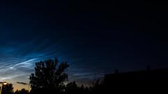 Noctilucent clouds (Bo Gaarde) Tags: longexposure blue summer sky cloud reflection night clouds denmark twilight nikon waves nlc electricblue herlev twillight noctilucent noctilucentclouds nlcs nightclouds d7100 spaceclouds mesospheric nightshiningclouds mesosphericclouds nikond7100 lysendenatteskyer