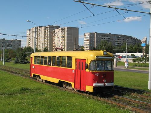 Belarus, Minsk tram RVZ-6M2 451
