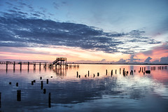 Bright side (Jacksonjesse) Tags: county morning pink blue light red summer sky orange sun nature water beautiful clouds sunrise river dawn high dynamic florida indian inner coastal cocoa range hdr highdynamicrange brevard indianriver brevardcounty 500px innercoastal ifttt