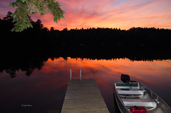 Sunset 3901 (J A West) Tags: sunset colors boat fillflash echolake fayetteme nikond7000