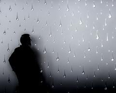 Le passager de la pluie (Clydomatic) Tags: art silhouette gris pluie ombre larmes hélènemugot fondationfrançoisschneider
