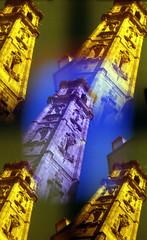 bell tower (pho-Tony) Tags: from camera color colour film valencia analog 35mm toy grid gold lomo lomography mod shiny 9 ishootfilm pop full plastic popart novelty filter lee 400 vista multiple modified blender kit analogue 135 agfa variations cheap gels gel pop9 variation monty array lenses poundland agfavista fullmonty c41 colourfilters filmisnotdead tetenal multilens tetenalc41kit lomopop9 leefilters filmplanemods