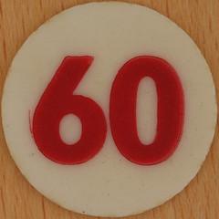 Bingo Number 60 (Leo Reynolds) Tags: xleol30x squaredcircle number numberbingo xsquarex bingo lotto loto houseyhousey housey housie housiehousie numberset 60 sqset120 60s canon eos 40d xx2015xx xxtensxx sqset
