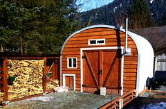 Pig farm shed
