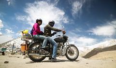 Changla Pass, 5300m, Ladhak, India (monsieur I) Tags: world travel india bells trekking canon vintage landscape stones bluesky human motorcycle ladakh enfieldbullet twowheels monsieuri canoneosm3 ivandupont canonefm1122mmisstm
