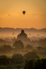 Sunrise at Bagan (tehhanlin) Tags: anandatemple bagan burmese chinstate htilominlotemple mindatdistrict monks myanmar pagodas rangoon shwedagon shwesandaw shwezigon tatooedface thatbyinnyutemple tribes yangon