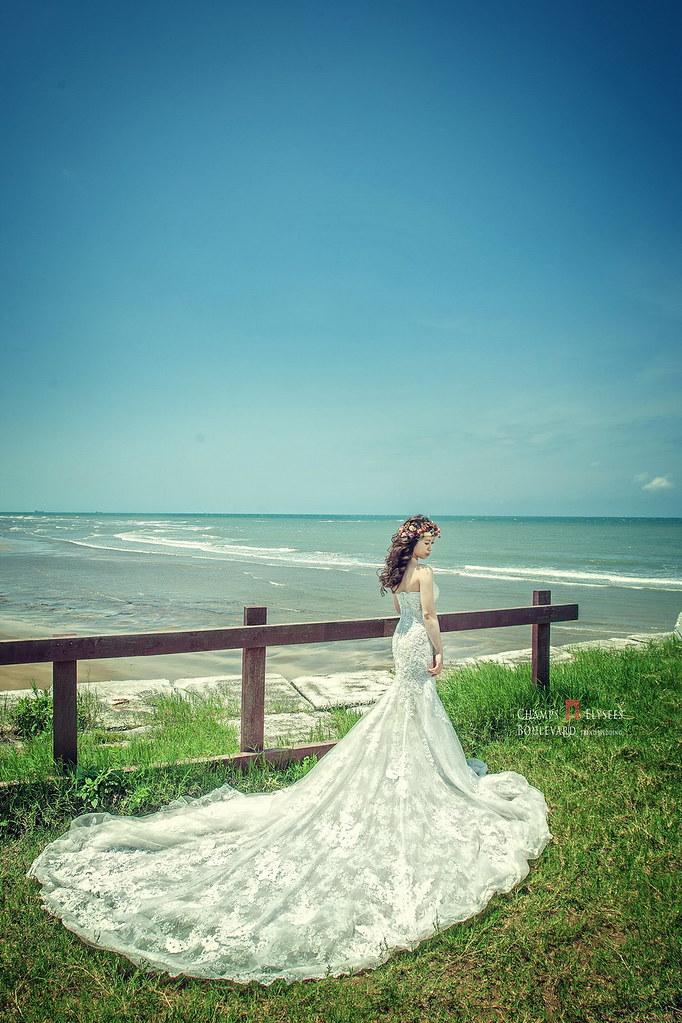 蕾絲細節,單一色系,淡水莊園,新人婚紗,婚紗攝影
