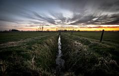 Dutch landscape (dominicbruins) Tags: sunset outdoor sky sun clouds nikon holland netherlands megchelen