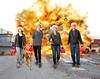 Hope your Holidays are a BLAST! (YetAnotherLisa) Tags: blastwalk minivan family christmas explosion fire blast