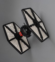 Special Forces TIE fighter (2) (Inthert) Tags: first order special forces tie fighter star wars lego moc force awakens sf space superiority sienar jaemus fleet systems tfa solar panels poe fn2187 pilot