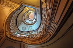 Stair Art (Elbmaedchen) Tags: staircase stairs treppenauge treppenhaus treppen spirale spirals escaliers escaleras roundandround ahead geländer jugendstil artnouveau altbau berlin inside
