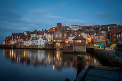 Whitby (jameshowardphotography) Tags: whitby white water blue lights long exposure north northyorkshire northeast northern night nikon town tide houses old st marys church reflection
