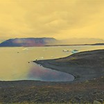 Iceland ~ Landmannalaugar Route ~  Ultramarathon is held on the route each July ~  Inlet Icebergs thumbnail