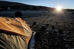 Sunrise at Crater Camp - Kilimanjaro National Park - Tanzania (PascalBo) Tags: nikon d300 tanzania tanzanie africa afrique eastafrica afriquedelest kilimanjaro kilimandjaro kilimanjaronationalpark parcnationaldukilimandjaro cratercamp sun soleil sunrise leverdesoleil tent bivouac camp campement pascalboegli