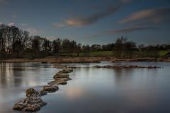 River Shannon at Castleconnell 13-1-2017 (John Holmes (DAJH51)) Tags: castleconnell nikon1635wa nikond750 clouds ireland longexposure river rivershannon sky steppingstones sunset sunsetsigma24105art