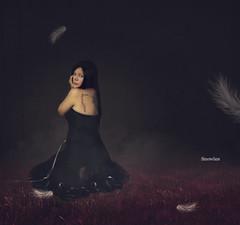 Broken Wings (SnowiesArt) Tags: girl darkart fine art surreal fantasy fairytale digitalart digitalmanipulation darkness scars broken wings photoart